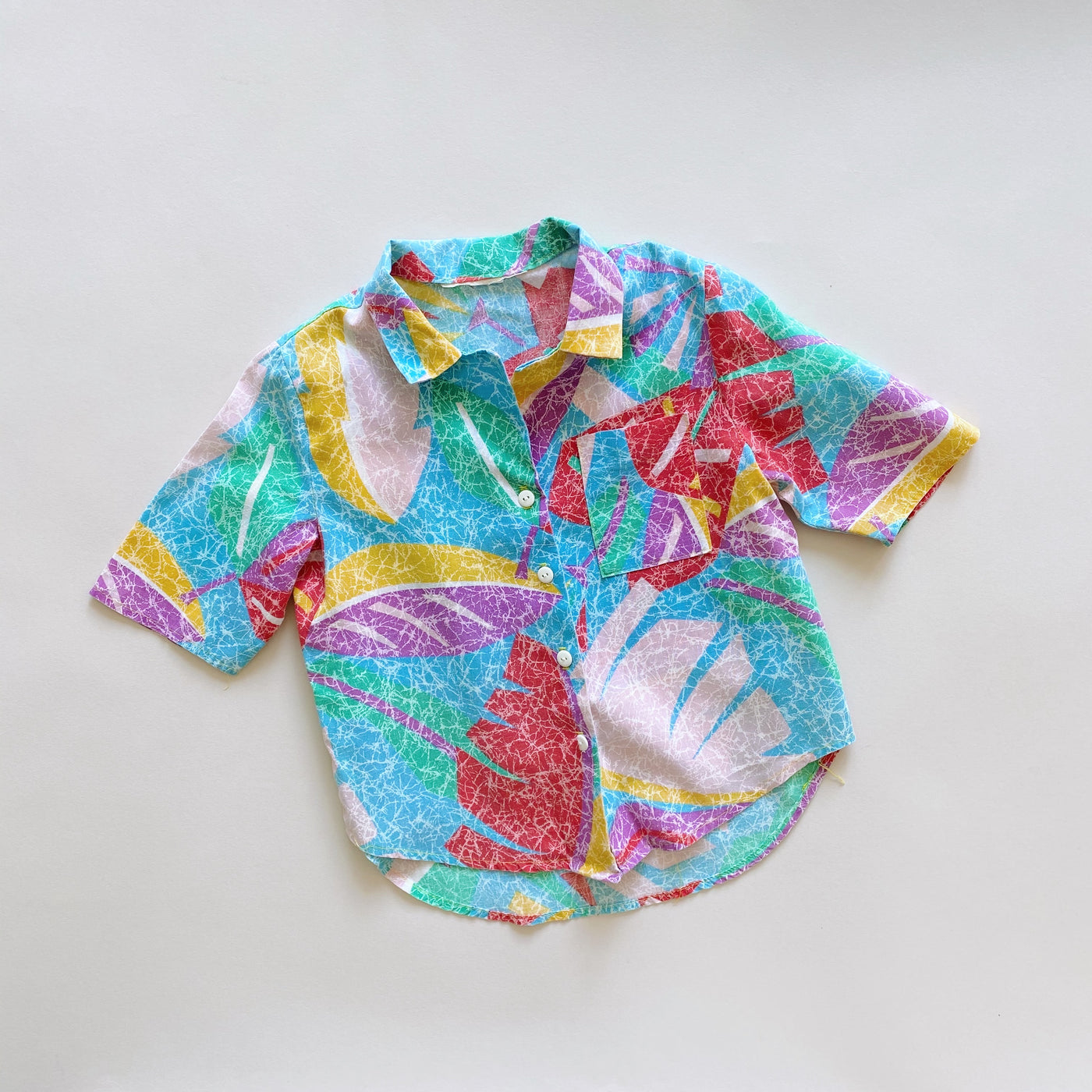 Vintage Short-Sleeved Button Down / Size 3T