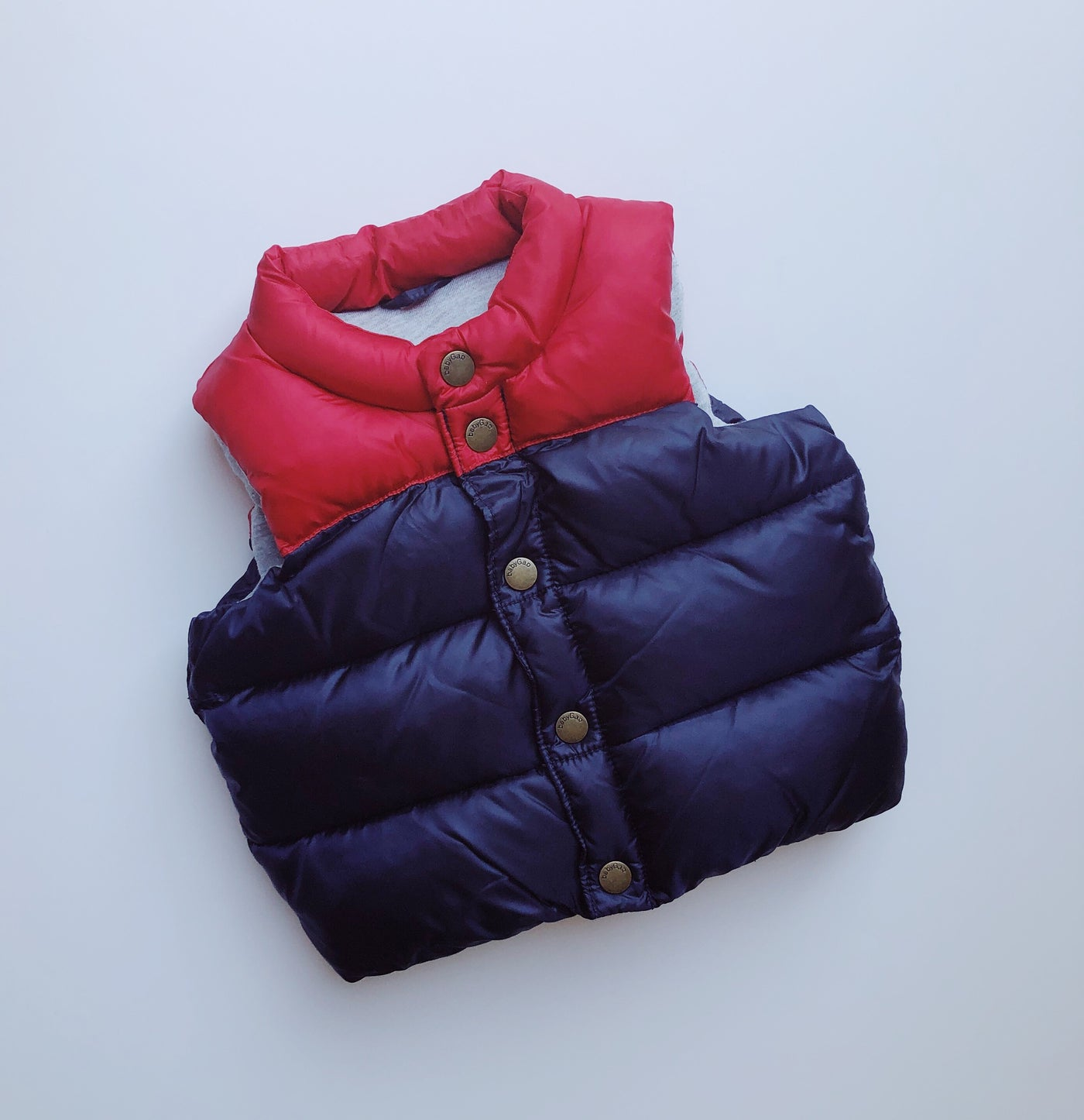 Baby Gap Red and Blue Puffer Vest / Size 12-18M