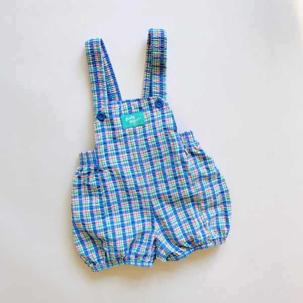 Baby B'gosh Plaid Bubble Shortalls / Size 12M