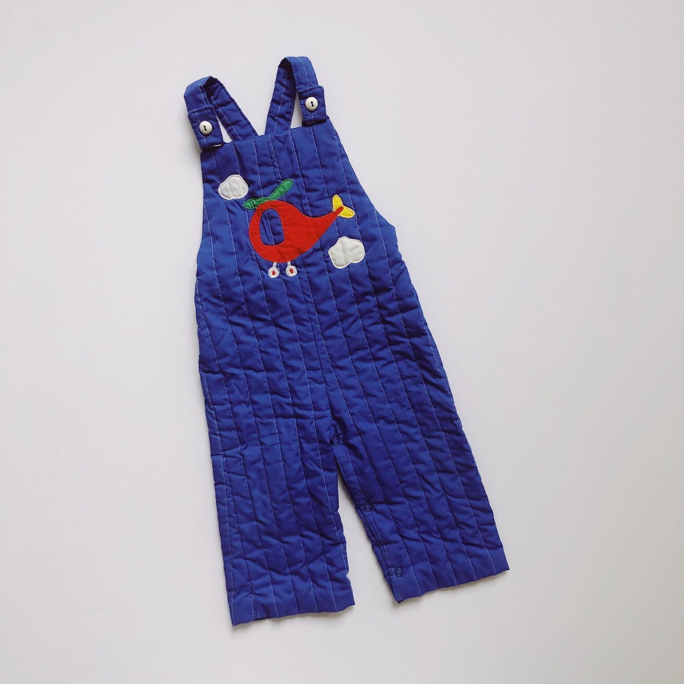 Vintage Quilted Helicoptor Overalls / Size 18M