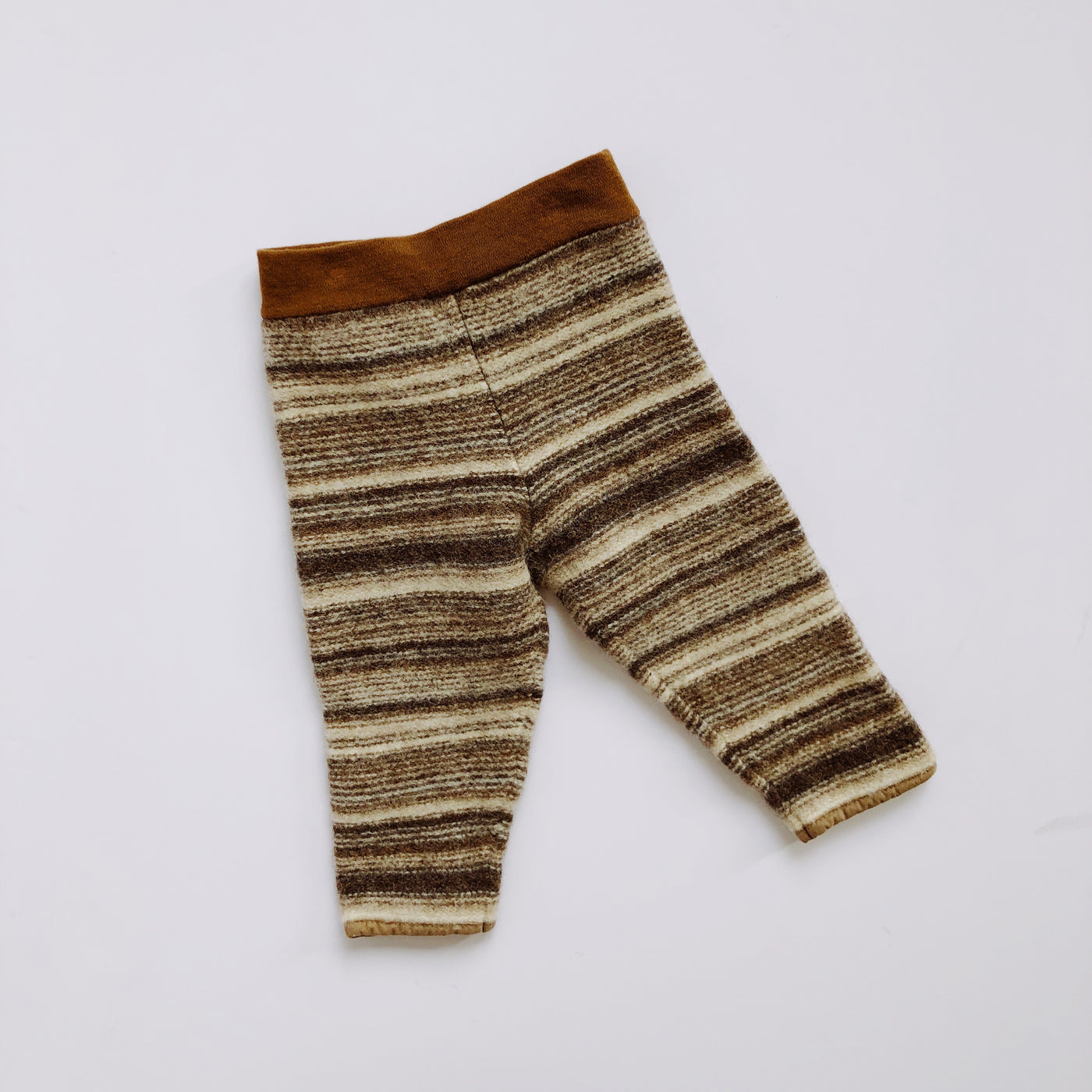 Unbranded Brown and Beige Striped Wool Pants / Size 2T