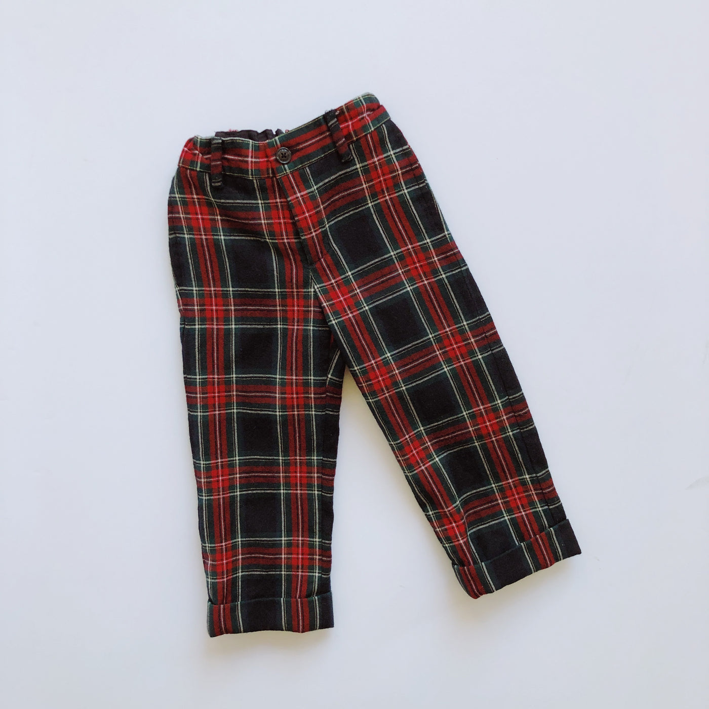Janie and Jack Plaid Holiday Trousers / Size 3T