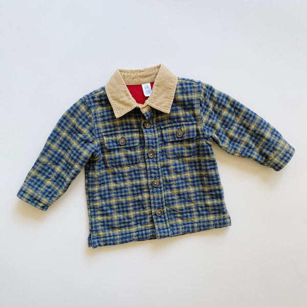 Baby Gap Quilted Plaid Shirt Jacket / Size 12-18M