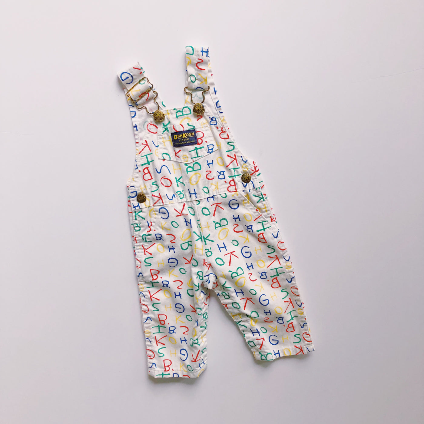 Vintage OshKosh Back to School Overalls / Size 6-9M