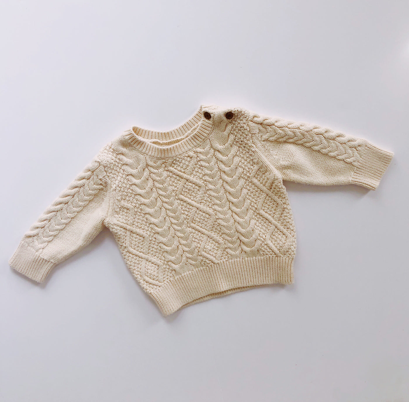 Baby Gap Cable Knit Creamy Sweater / Size 6-12M