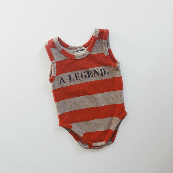 "Bobo Choses Terry Cloth ""Legend"" One Piece / Size 12-18M"