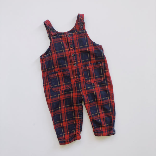 Baby Gap Comfy Cozy Plaid Romper / Size 18-24M