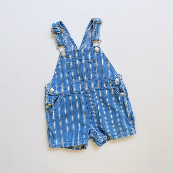 Baby Gap Striped Denim Shortalls / Size 12-18M