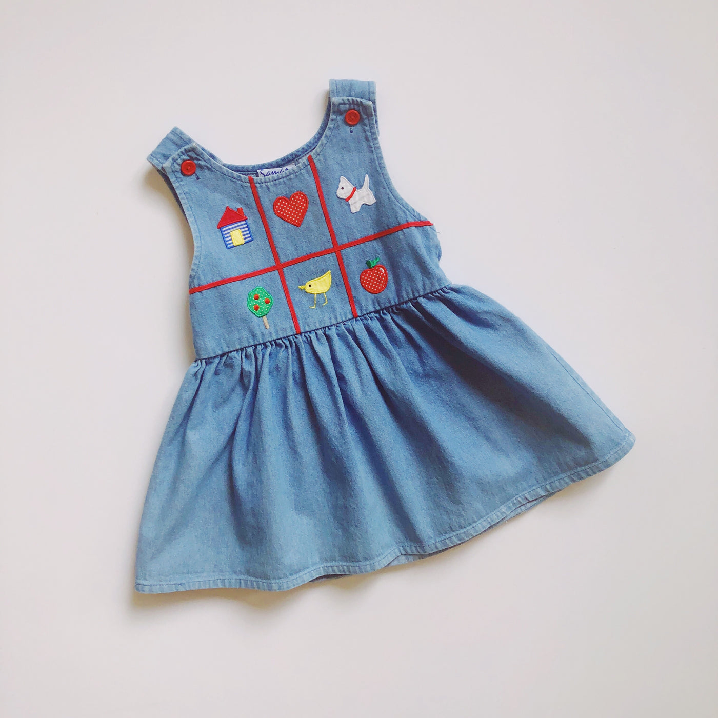 Samara Denim Schoolgirl Dress / Size 3T