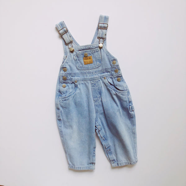 Bugle Boy Lightwash Denim Overalls / Size 18M