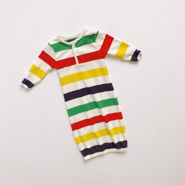 Hudson's Bay Striped Nightgown / Size 0-6M