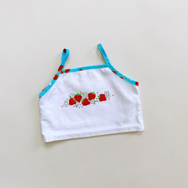 Cropped Strawberry Tank Top / Size 6-12M