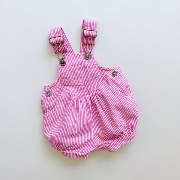 Vintage Engineer Stripe Bubble Shortalls / Size 6-9M