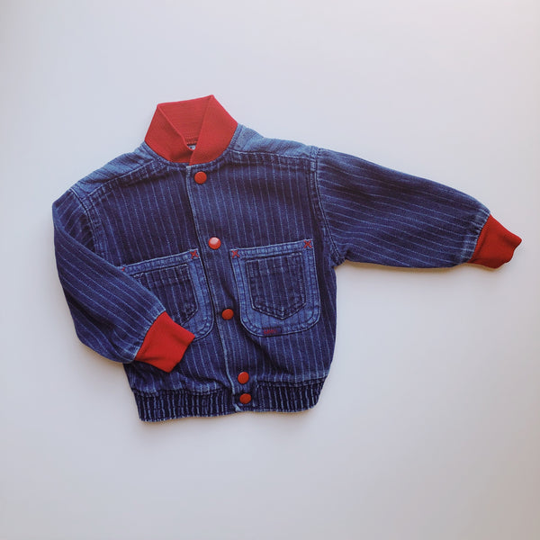 Vintage Lee Denim Jacket with Red Details / Size 3T