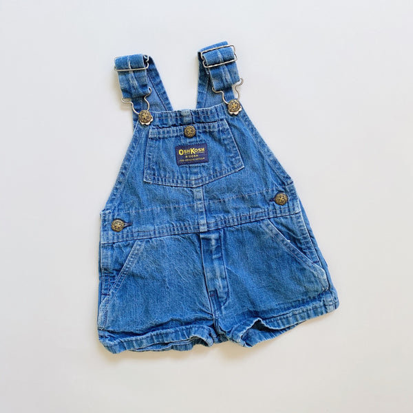 Vintage OshKosh Denim Shortalls / Size 18-24M