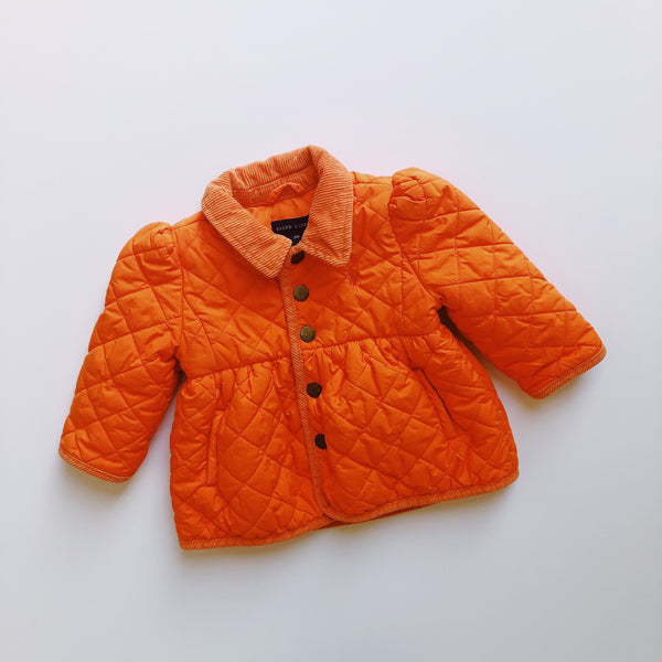Ralph Lauren Orange Quilted Jacket / Size 9M