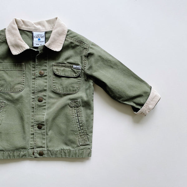 Vintage Calvin Company Green Canvas Jacket / Size 4T