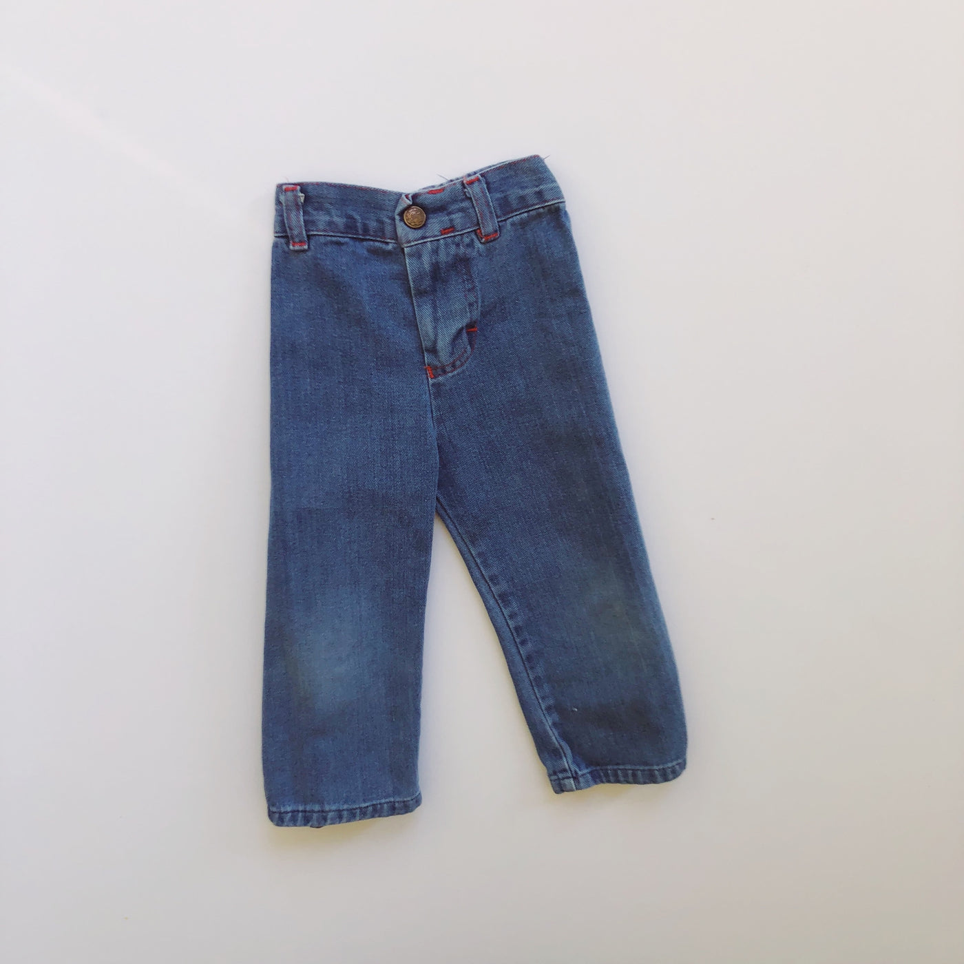 "Vintage ""Lean Jeans"" Embroidered Chick Denim / Size 4T"