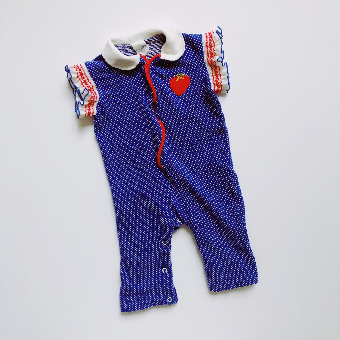 Vintage Babygro by Gerber Zip-Up Romper / Size 12M