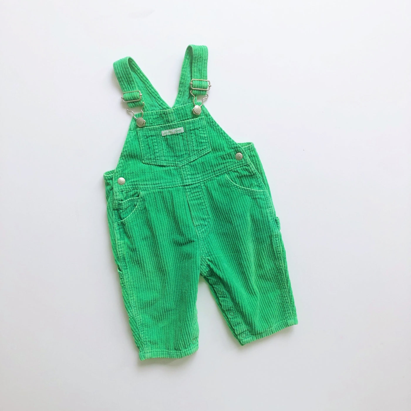 Baby Gap Bright Green Corduroy Overalls / Size 6-12M