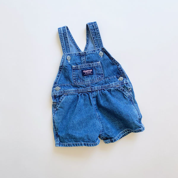 OshKosh Bubble Denim Shortalls / Size 6-9M