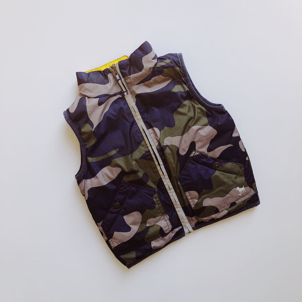 Baby Boden Reversible Fatigue Vest / Size 3T