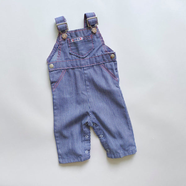 Vintage Health-tex Engineer Stripe Overalls / Size 6M