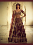 Exclusive Heavy Designer Beautiful Maroon Color Party Wear Lehenga Choli - Stylizone
