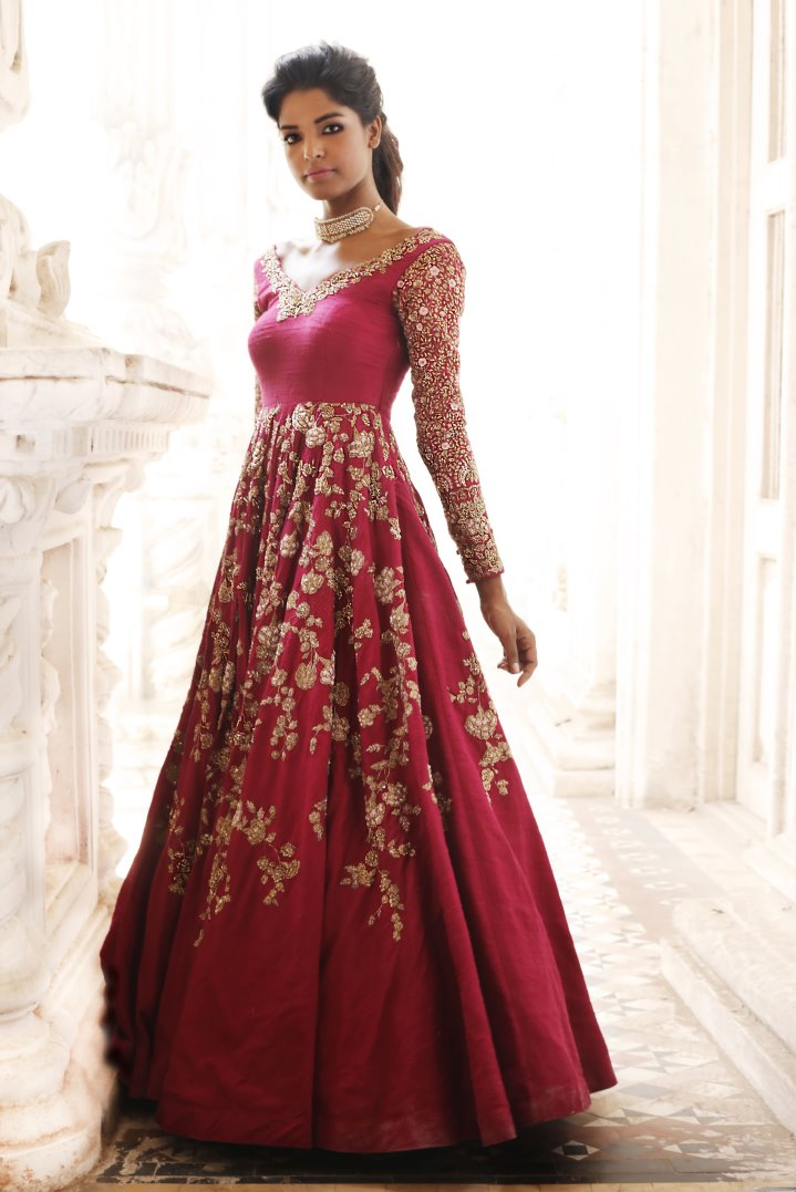 Beautiful Exclusive Designer Red Color Designer Dress