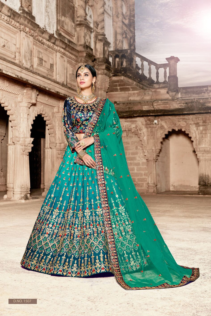 Exclusive Designer Beautiful Multi Color Color Bridal Lehenga Choli-STYLIZONE