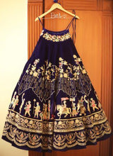 Load image into Gallery viewer, A102-Exclusive Designer Royal Blue with Custom Names Bridal Lehenga Choli - Stylizone