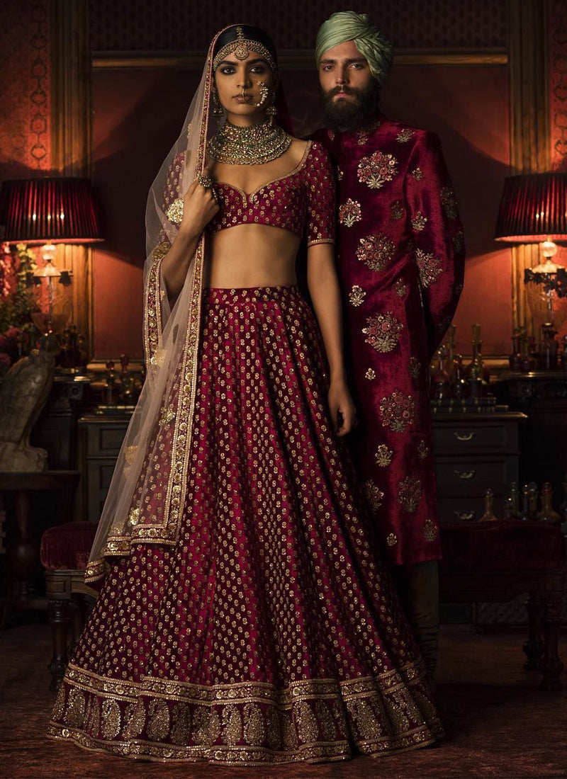 Exclusive Heavy Designer Beautiful Maroon Color Party Lehenga Choli - Stylizone