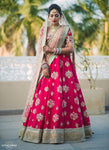 Exclusive Heavy Designer Beautiful Bridal Red Color Floral Design Bridal Lehenga Choli - Stylizone