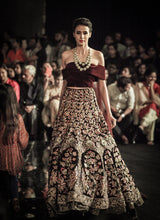 Load image into Gallery viewer, A137-Exclusive Heavy Designer Beautiful Maroon Color Bridal Lehenga Choli - Stylizone