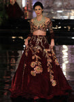 A136-Exclusive Heavy Designer Beautiful Maroon Color Bridal Lehenga Choli - Stylizone
