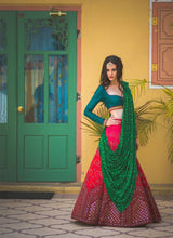 Load image into Gallery viewer, Exclusive Heavy Designer Beautiful Pink Color Bridal Lehenga Choli - Stylizone