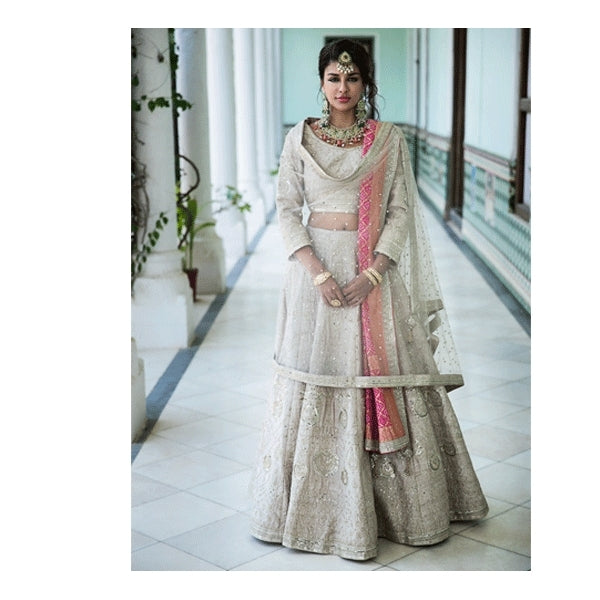 Exclusive Heavy Designer Beautiful Peach Color Party Wear Lehenga Choli - Stylizone