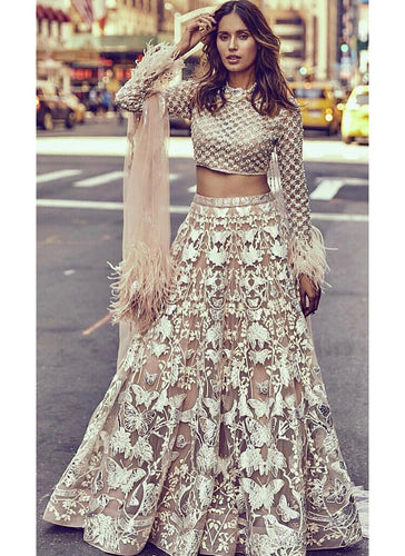 Exclusive Heavy Designer Beautiful White Color Party Wear Lehenga Choli - Stylizone