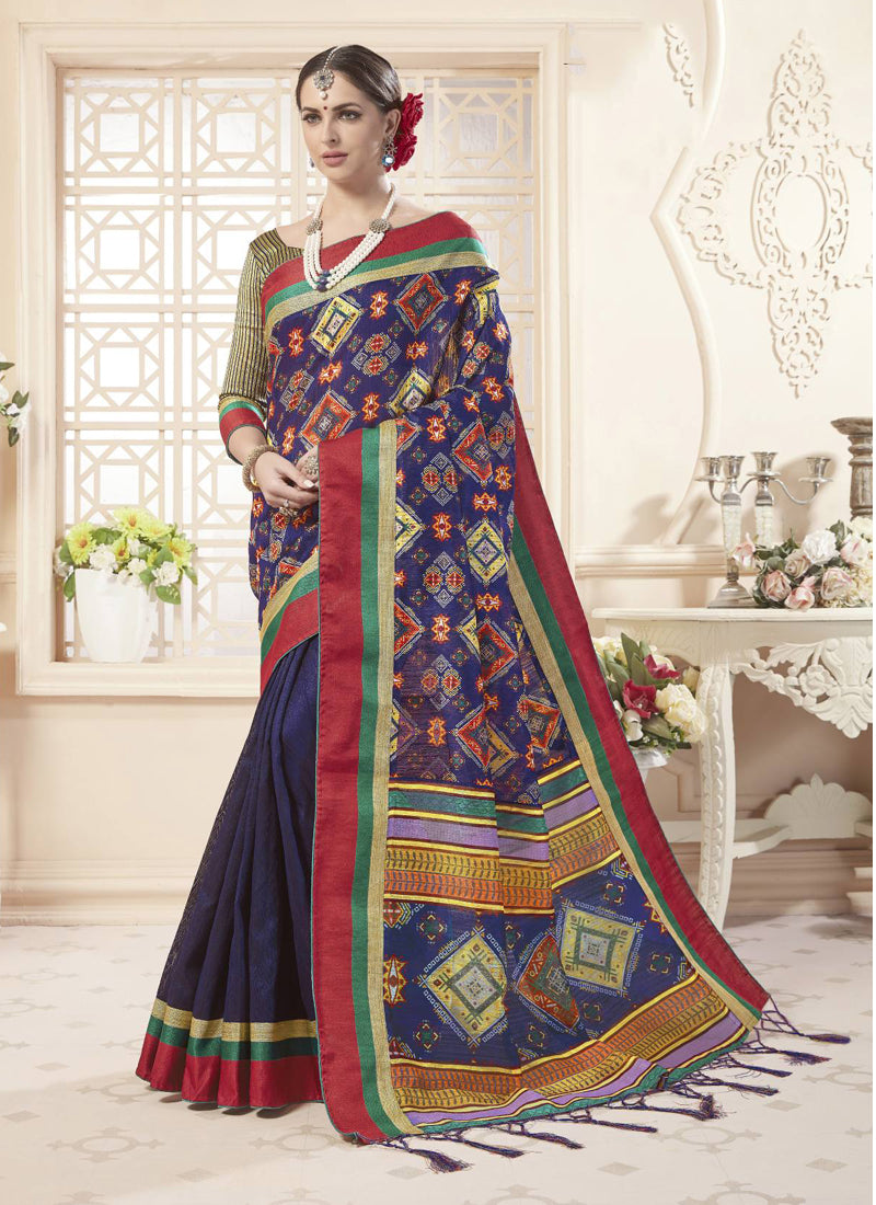 Exclusive Designer Beautiful Violate Color Party Wear Saree - Stylizone