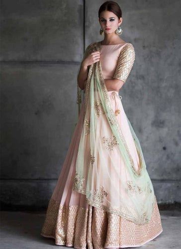 Exclusive Designer Baby Pink Color Party Wear Lehenga Choli - Stylizone