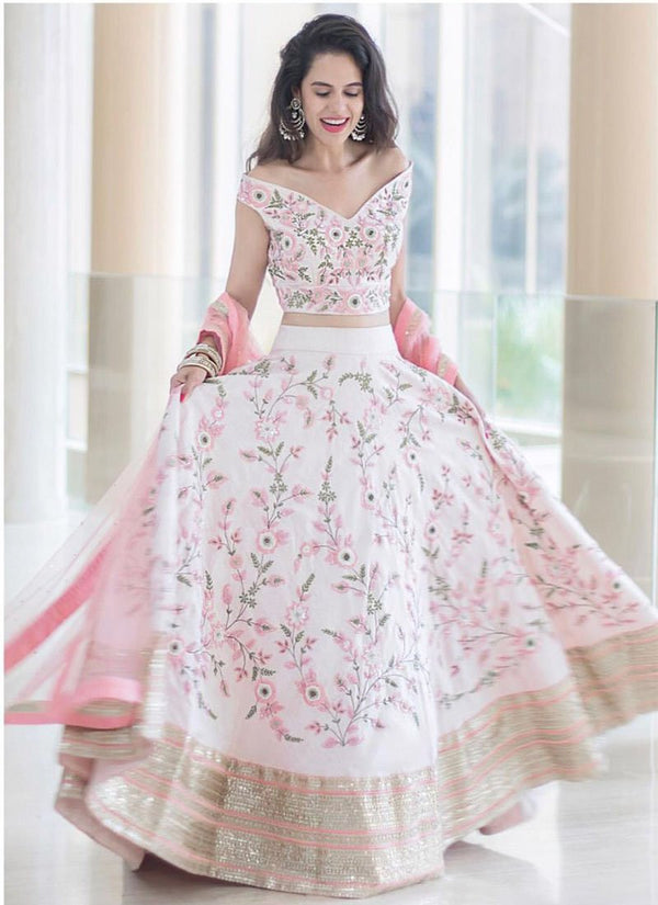 98dd85df90 Exclusive Designer Baby Pink Color Party Wear Lehenga Choli-STYLIZONE -  Stylizone