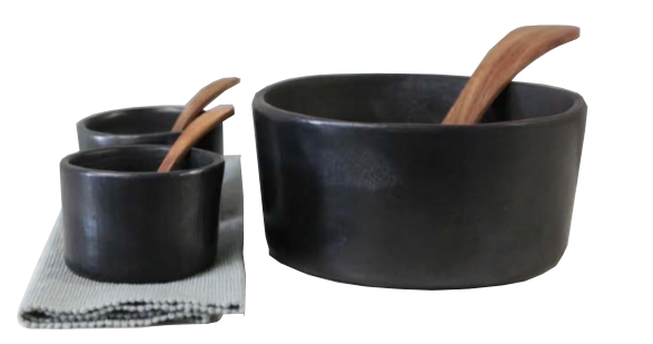 Burnt Clay Bowl Set