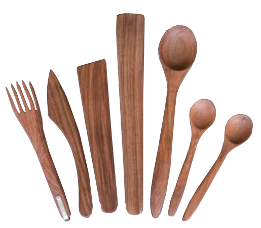 Hand-carved Wood Kitchen Utensils