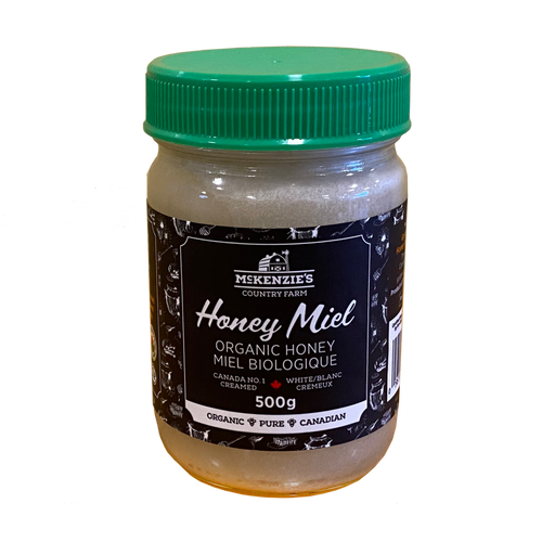 12 x 500g Organic Creamed Honey