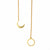 Gold Necklace Lariat with Crescent Moon