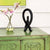 Black Soapstone eternity knot statue hand carved in Kenya by Fair Trade artisans.