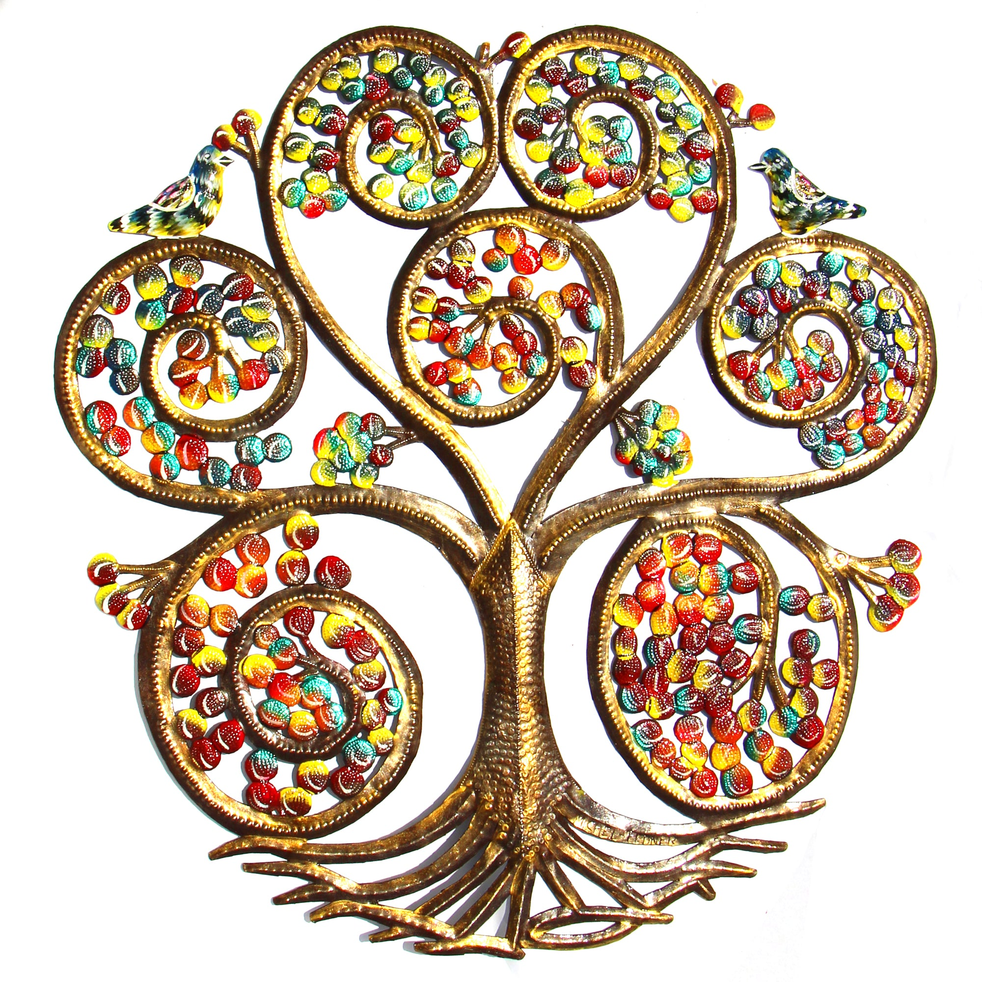 Painted Autumn Spiral Tree of Life