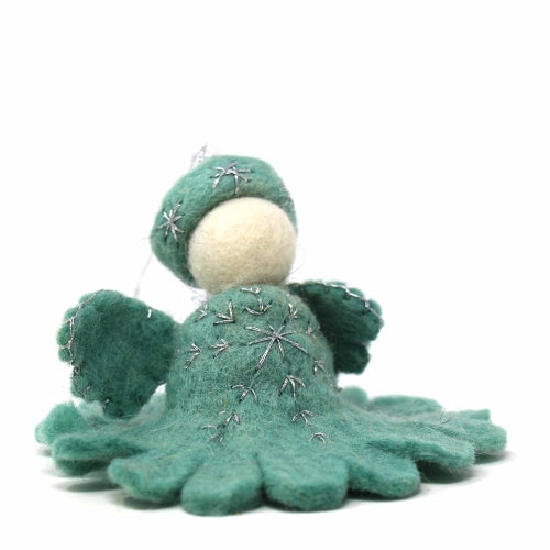 Hand Crafted Felt from Nepal: Ornament, Blue Angel