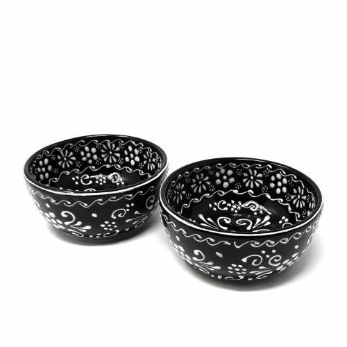 "Encantada Handmade Pottery 5.5"" Set of 2 Bowls, Ink"