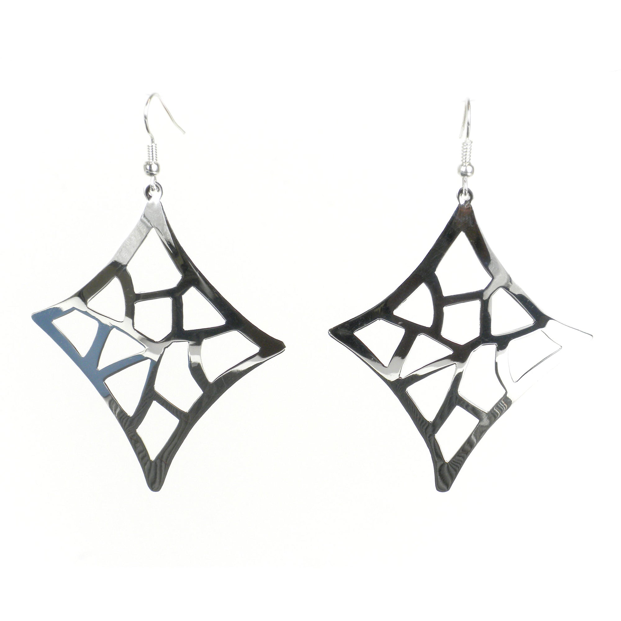 Large Silver-plated Starlight Earrings